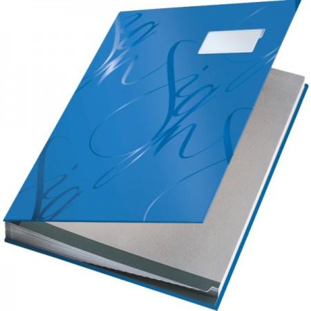Mapa semnaturi cu 18 separatoare albastra, LEITZ Design
