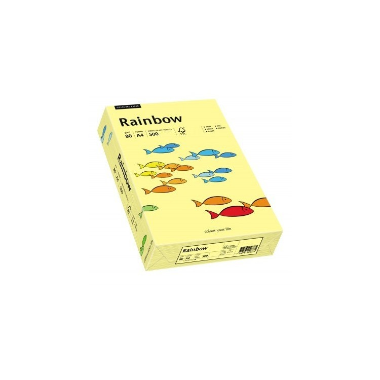Hartie copiator A4 80g/mp 500 coli/top galbena pal, RAINBOW