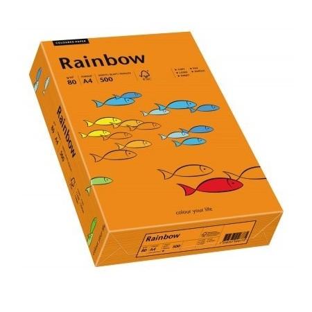 Hartie copiator A4 80g/mp 500 coli/top portocalie intens, RAINBOW