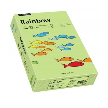 Carton A4 160g/mp 250 coli/top verde lucios, RAINBOW
