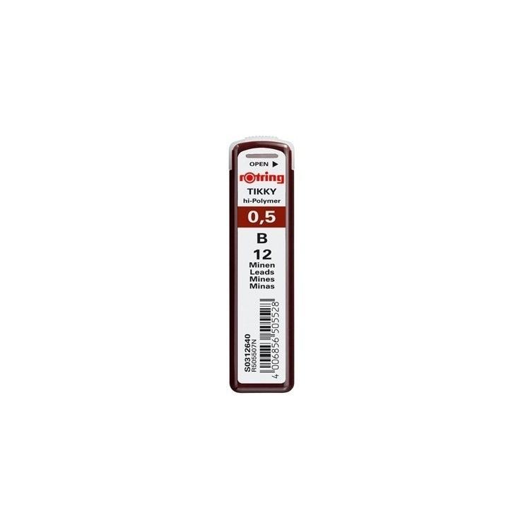 Mina creion 0.5mm B 12 buc/set, ROTRING