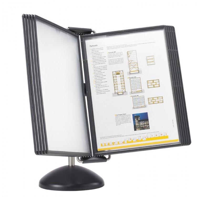 Display de birou pentru 10 buzunare A4 negru, PROBECO VIP