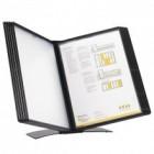 Display de birou pentru 10 buzunare A4 negru, PROBECO EasyMount