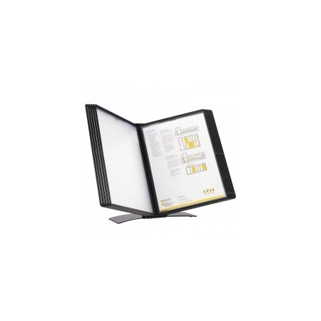 Display de birou pentru 20 buzunare A4 negru, PROBECO EasyMount