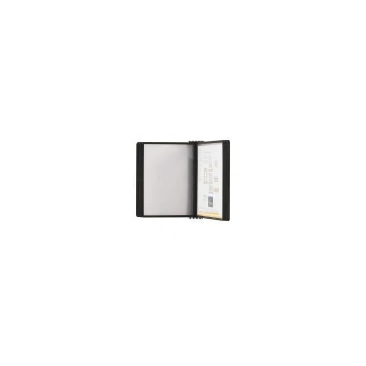 Display de perete pentru 10 buzunare A4 negru, PROBECO EasyMount