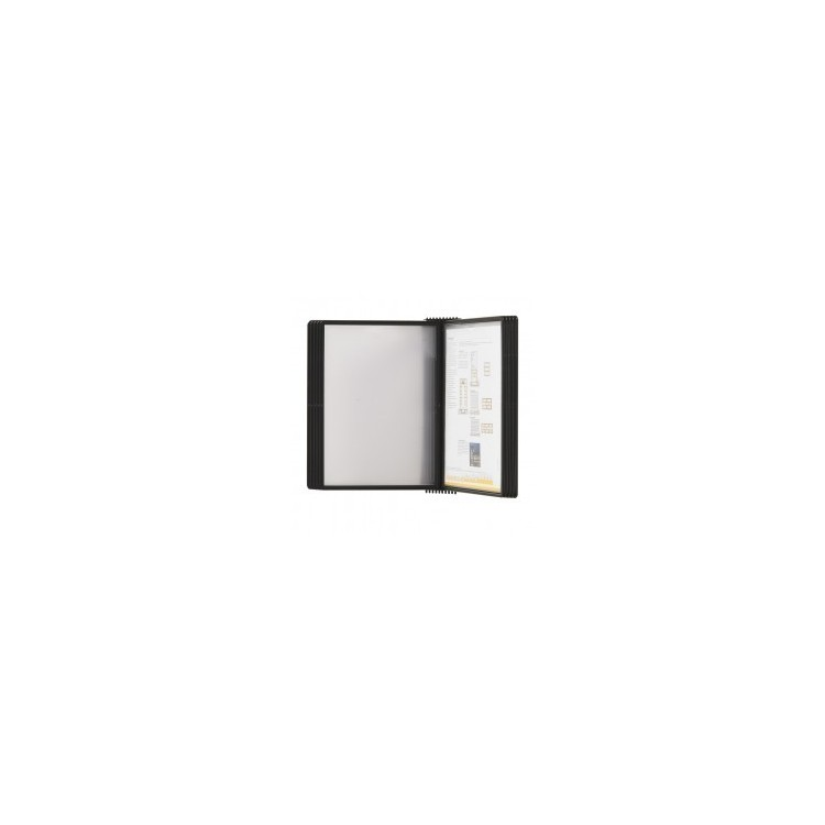 Display de perete pentru 20 buzunare A4 negru, PROBECO EasyMount