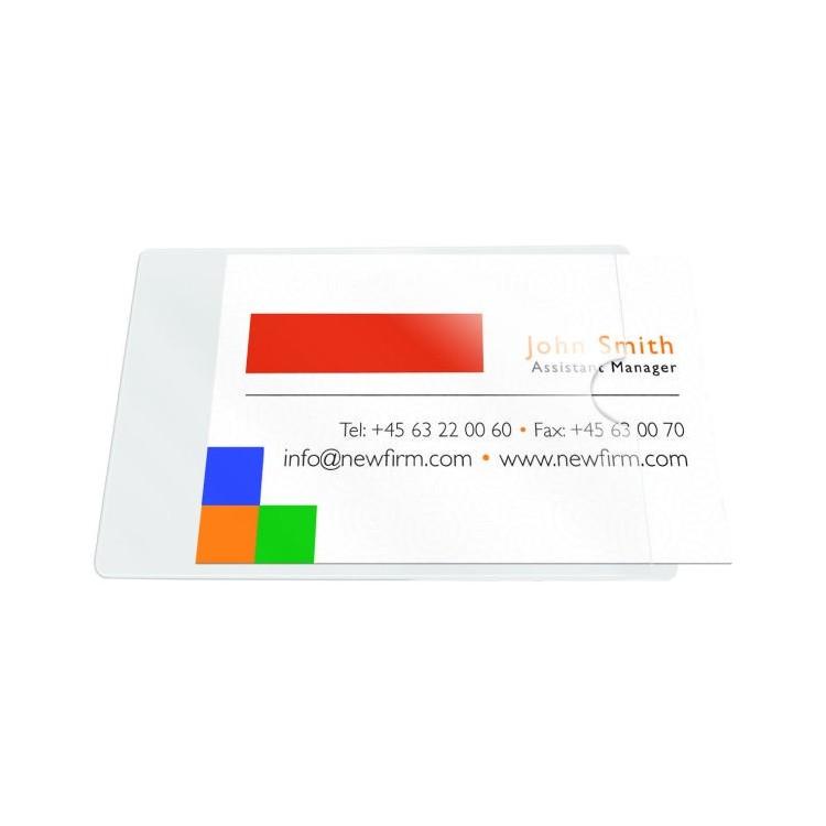 Buzunar adeziv pentru carti de vizita acces lateral 60x95mm 10 buc/set, PROBECO