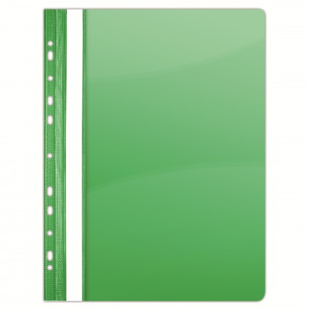 Dosar plastic cu sina si multi perforatii verde cristal 10 buc/set, DONAU