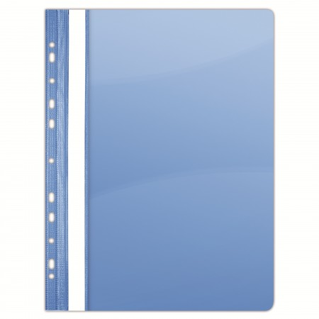 Dosar plastic cu sina si multi perforatii albastru cristal 10 buc/set, DONAU