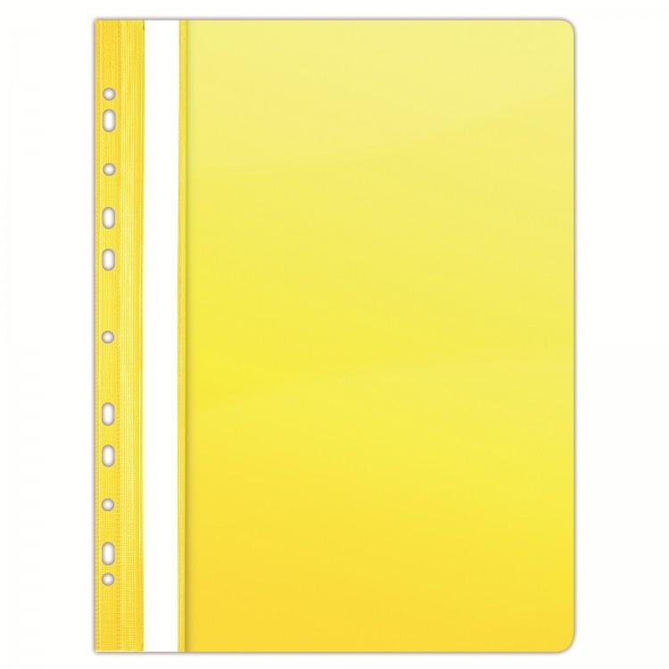 Dosar plastic cu sina si multi perforatii galben cristal 10 buc/set, DONAU