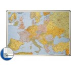 Harta magnetica Europa (rutier + administrativa) 85x125cm rama aluminiu, SMIT