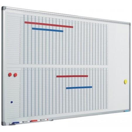 Planificator magnetic 53 saptamani 60x120cm rama aluminiu, SMIT
