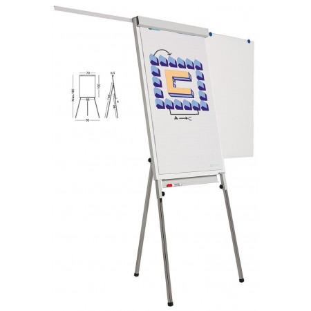 Flipchart magnetic 105x70cm cu brate laterale, SMIT Standard Plus