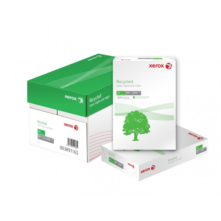 Hartie copiator A4 80g/mp 500 coli/top alba, XEROX Recycled
