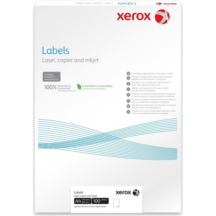 Etichete adezive 2/A4 210x148.5mm 100 coli/top, XEROX