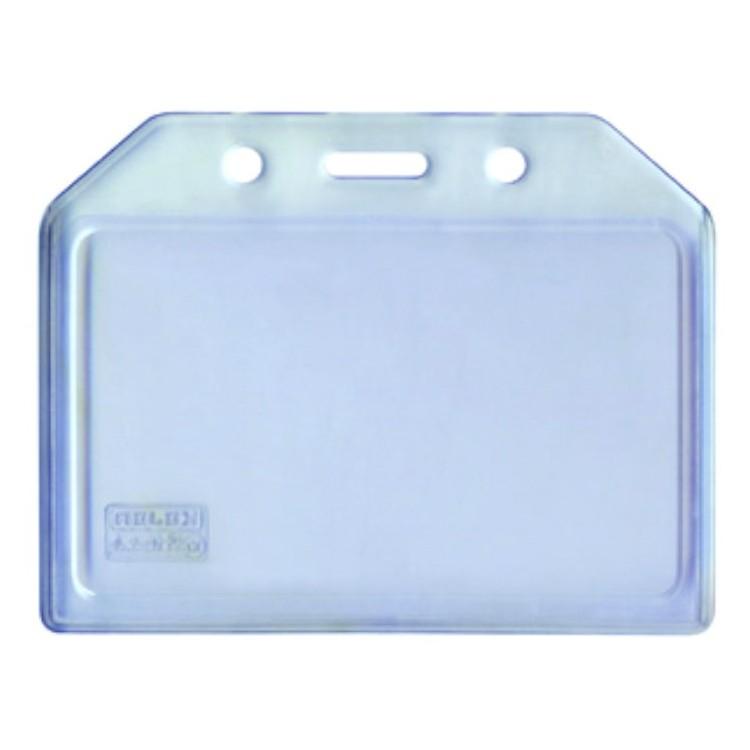 Buzunar ecuson  PVC transparent  105x74mm orizontal 5 buc/set, KEJEA