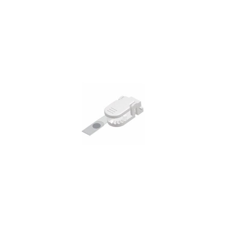 Clips plastic pentru ecuson alb 10 buc/set, KEJEA