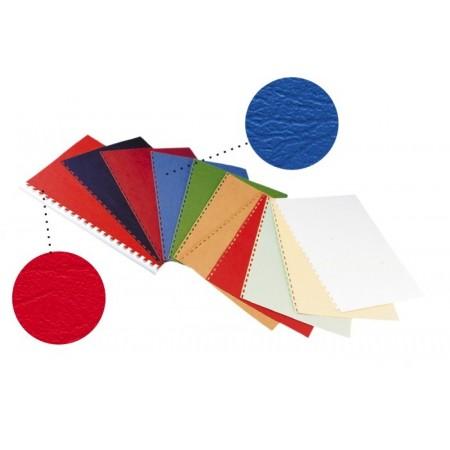 Coperta indosariere carton imitatie piele albastra 250g/mp A4 100 buc/top, OPUS