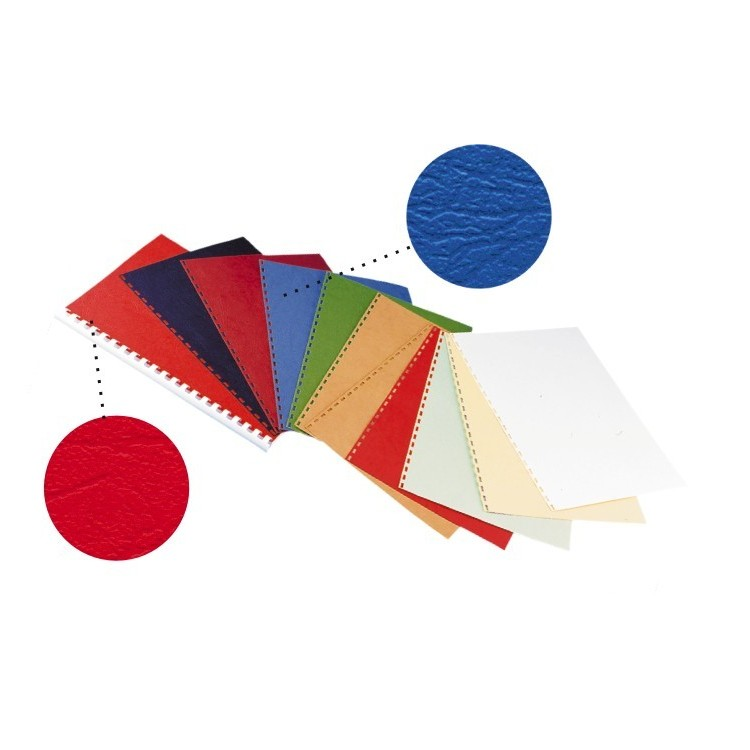 Coperta indosariere carton imitatie piele rosie 250g/mp A4 100 buc/top, OPUS