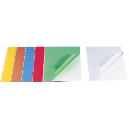 Coperta indosariere plastic verde transparent 200mic A4 100 buc/top, OPUS