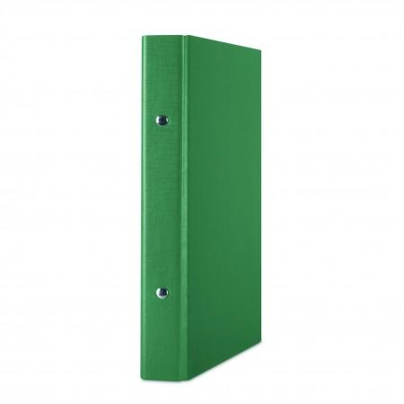 Caiet mecanic A5 2 inele 20mm PP verde, DONAU