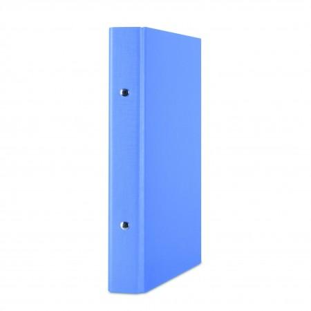 Caiet mecanic A5 2 inele 20mm PP albastru, DONAU