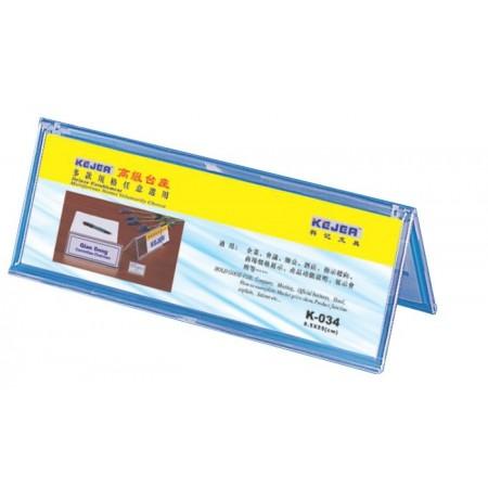 Display nume pentru birou  tip A 85x250mm trasnparent, KEJEA