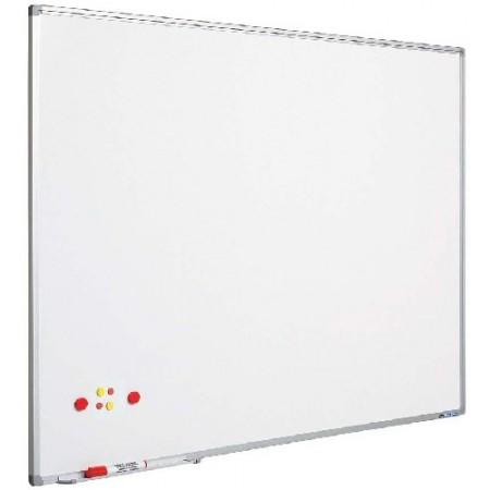Tabla magnetica alba 100x200cm rama aluminiu, SMIT