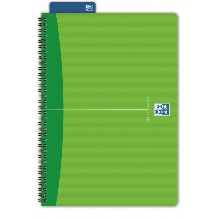 Caiet A5 cu spira 90 file matematica coperti carton, OXFORD Essentials
