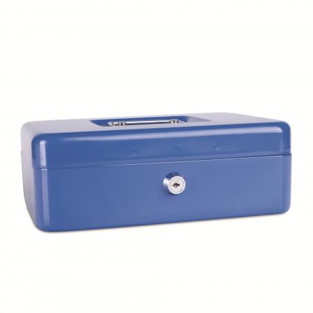 Caseta metalica pentru bani 250x180x90mm albastra, DONAU