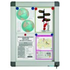 Avizier interior/exterior tabla magnetica alba 15xA4 90x106cm, SMIT Recto