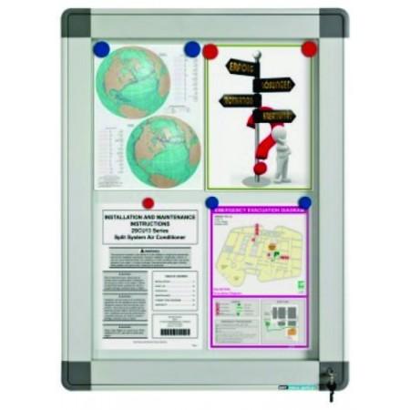 Avizier interior/exterior tabla magnetica alba 21xA4 90x148cm, SMIT Recto