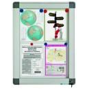 Avizier interior/exterior tabla magnetica alba 4xA4 60x42cm, SMIT Recto