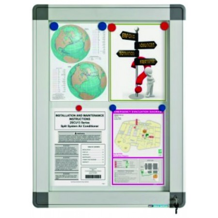 Avizier interior/exterior tabla magnetica alba 6xA4 60x63cm, SMIT Recto
