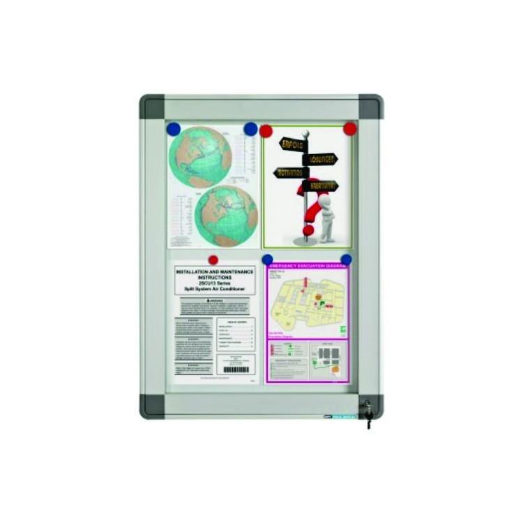 Avizier interior/exterior tabla magnetica alba 9xA4 90x63cm, SMIT Recto