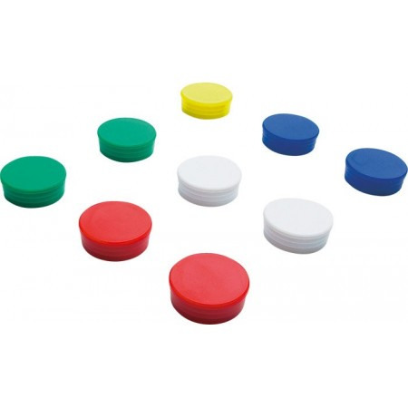 Magnet D25mm rosu 10 buc/set, SMIT