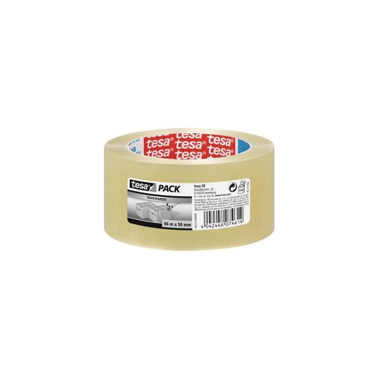 Banda adeziva 48mm x 66m transparenta solvent, TESA