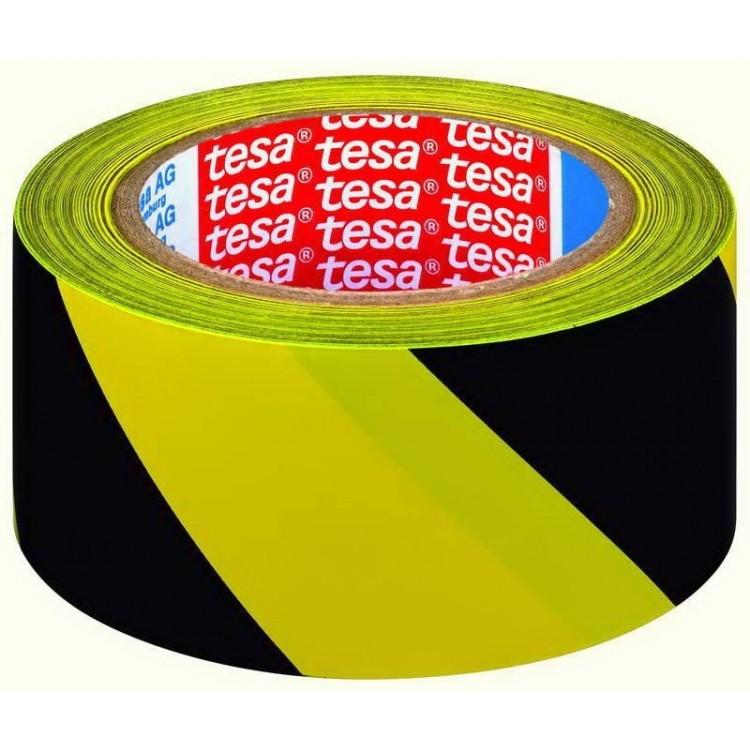 Banda adeziva pentru marcare 50mm x 33m galben/negru, TESA
