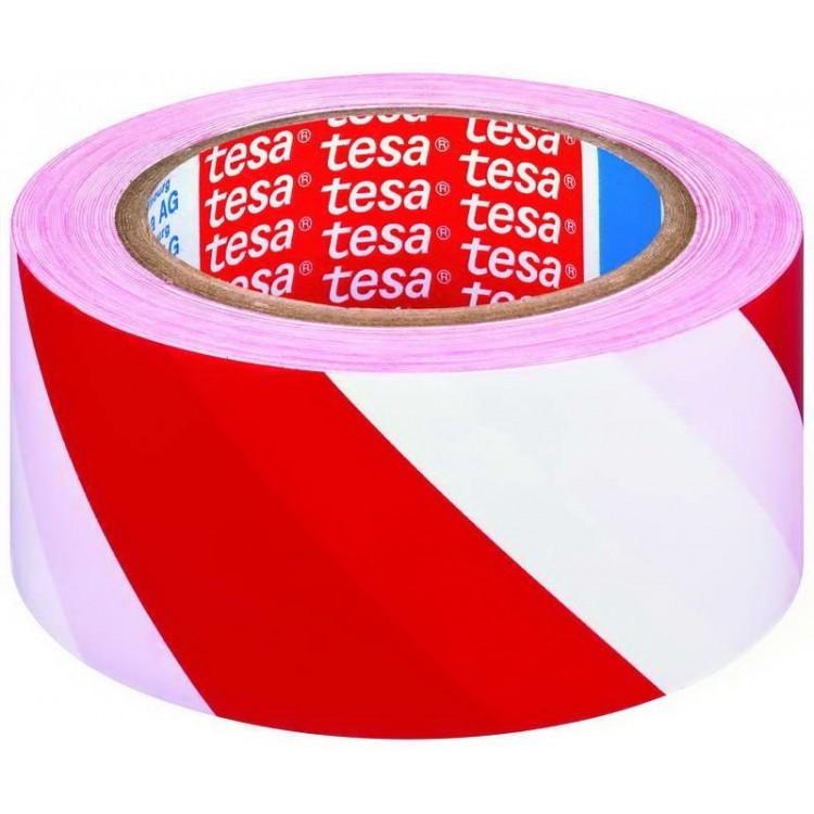 Banda adeziva pentru marcare 50mm x 33m rosu/alb, TESA