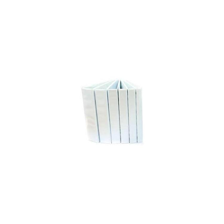 Caiet mecanic cu buzunar 2 inele 25mm PP alb, OPTIMA