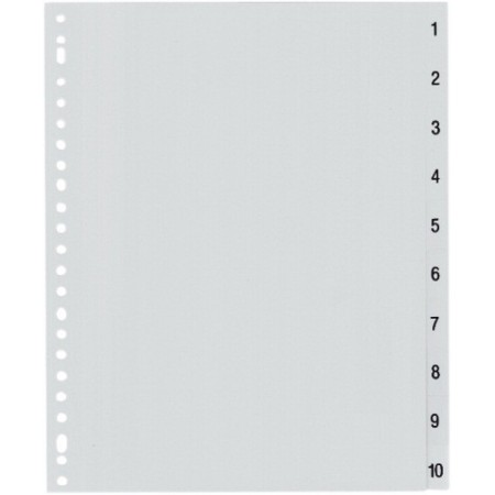 Separator index plastic 1-10, OPTIMA