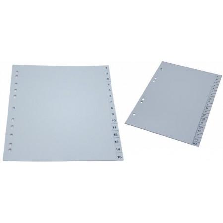 Separator index plastic 1-12, OPTIMA