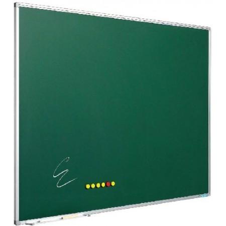 Tabla magnetica verde pentru creta 120x240cm rama aluminiu, SMIT