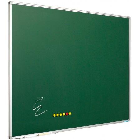 Tabla magnetica verde pentru creta 90x120cm rama aluminiu, SMIT