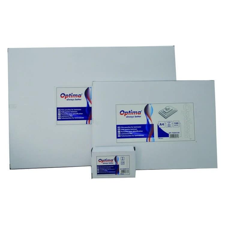 Folie pentru laminare A4 125mic 100 buc/set, OPTIMA