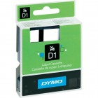 Banda etichetare 12mm x 7m negru/alb, DYMO D1