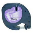 Banda etichetare 12mm x 4m din plastic transparenta, DYMO Letratag