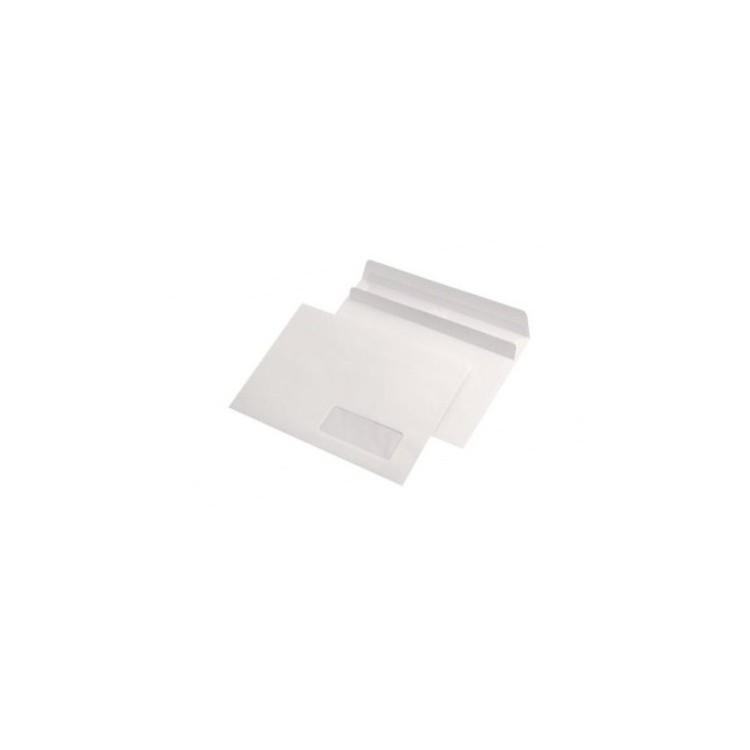 Plic C5 alb autoadeziv 80g/mp 162x229mm tip L fereastra dreapta