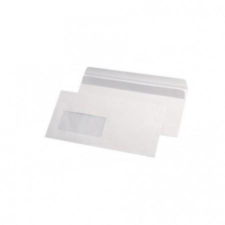 Plic DL alb siliconic 110x220mm fereastra stanga