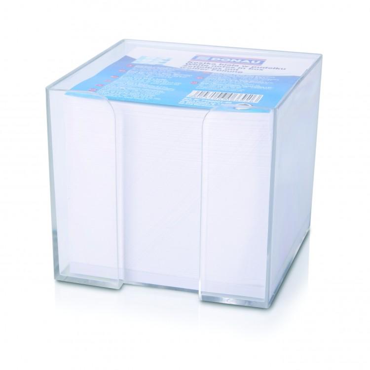 Cub hartie alb 8.3x8.3cm 800 file cu suport plastic, DONAU